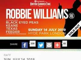 x4 Robbie Williams Tickets