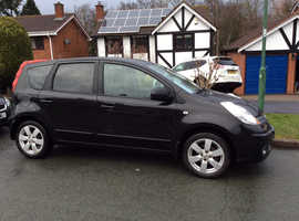 Nissan Note, 2008 (57) Black MPV, Manual Petrol, 106,000 miles