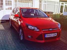Ford Focus, 2013 (63) Red Hatchback, Manual Petrol, 50,000 miles