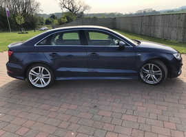 Audi A3, 2016 (65) Blue Saloon, Manual Petrol, 32,000 miles