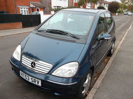 MERCEDES A-160 AVANTGARDE LWB, 2003 (53) 2 PREV. OWNERS FULL S/H 16 SERVICE STAMPS Manual Petrol, 90,000 miles