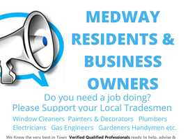 MEDWAY Local tradesmen, plumbers, window cleaners, painters, gardeners, electricians, gas engineers. We know the best in town.