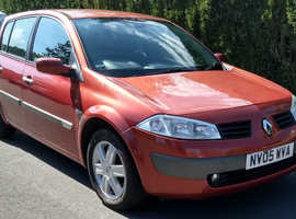 Renault Megane 2005 Red Hatchback, Manual Petrol, 90,123 miles, New MOT, Excellent Condition