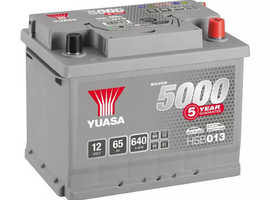 Brand new unusused 12 v car battery with  5 year guarantee