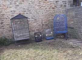 4 parrot cages