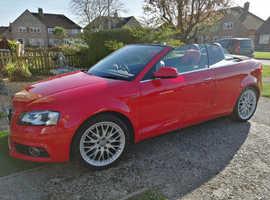 Audi A3, 2010 (10) Red Convertible, Manual Petrol, 43,000 miles
