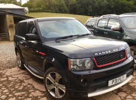 Land Rover Range Rover Sport, 2009 (59) Black Estate, Automatic Petrol, 108,000 miles