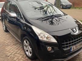 Peugeot 3008, 2011 (11) Black Hatchback, Semi auto Diesel, 95,000 miles