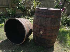 lovely vintage oak whiskey barrels