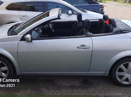 Renault MEGANE CAB DYNAM+ 16V, 2007 (07) silver convertible, Automatic Petrol, 78000 miles