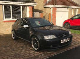 Audi S3, 2003 (03) Black Hatchback, Manual Petrol, 147,000 miles