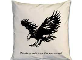 There is an eagle in me that wants to soar cushion