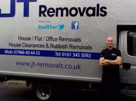 JT Removals..fully insured house removals and rubbish removals -all Manchester areas.