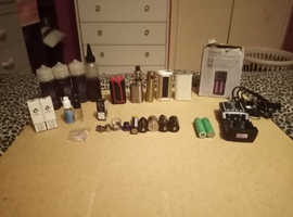 Aspire, smok and eleaf vapes, charger, batteries juices etc