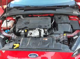 Ford Focus, 2016 (66) Red Estate, Manual Diesel, 102,456 miles