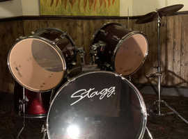 Preowned Stagg Tim 5 Piece Drum Kit with extras VGC