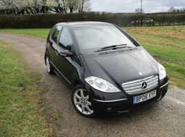 Mercedes A-CLASS, 2008 (08) black hatchback, Cvt Diesel, 82910 miles