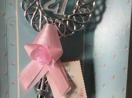 21st Silver Colour Birthday Keepsake Key