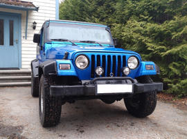 Jeep Wrangler, 1997 (P) blue 4x4, Manual Petrol, 158,000 miles