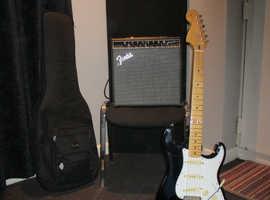 Fender Stratocaster Jimi Hendrix edition + amp + extras.