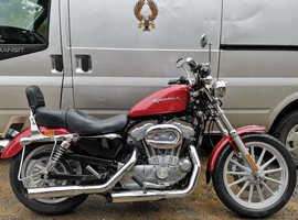 LOVELY 2004 HARLEY DAVIDSON XL883 SPORTSTER, ONLY 4717 MILES, SCREAMING EAGLE EXHAUSTS EXTRAS
