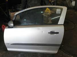 2007 VAUXHALL OPEL CORSA D FRONT LEFT PASSENGER NS 3 DOOR BARE DOOR SHELL PANEL