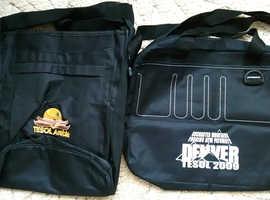 Black Fabric Shoulder/ Messenger / Holdall / Book Bags