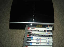 Selling this Ps3/games as it's just sitting storage and not been used in ages!