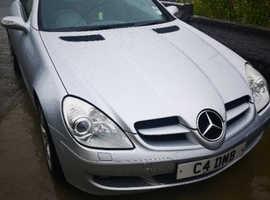 Mercedes Slk, 2006 (06) Silver Convertible, Automatic Petrol, 85,666 miles