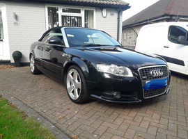 Audi A4, 2008 (08) Black Convertible, Manual Diesel, 124,611 miles