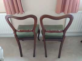 Really attractive pair of antique chairs
