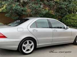 Mercedes S Class, 2000 (X) Silver Saloon, Automatic Petrol, 128,000 miles
