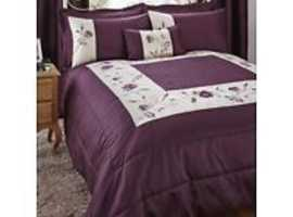 WANTED Dunelm Verity plum super kingsize 262x295cm bedspread.