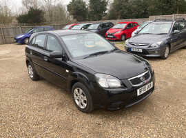 Kia Rio, 2010 (10) Black Hatchback, Manual Petrol, 46,000 miles
