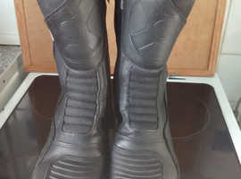 """OXFORD MOTOR CYCLE TRACKER BOOTS BLACK WATERPROOF """"SIZE 43"""""""