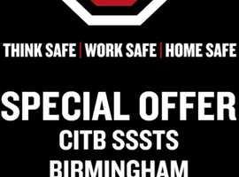 CITB SSSTS Course - WAS £245+VAT   NOW £190+VAT Per Person