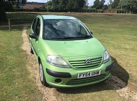 Citroen C3, 2004 (54) Green Hatchback, Manual Petrol, 74,750 miles