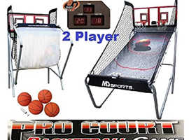 MD Sports Basketball Pro Court 2-Player w/ 8 Games Electronic Scoreboard.