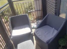Vgc rattan 3 piece patio/garden set