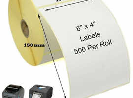 10 x 500 Label Rolls 5000 Labels 4x6 Inch, 100x150mm Thermal Printer Labels for zebra printer + more