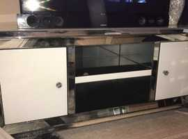 Mirrored glass tv unit and table