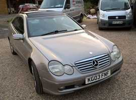 Mercedes C CLASS, 2003 (03) Silver Coupe, Automatic Petrol, 102,000 miles