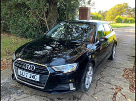 Audi A3, 2017 (17) Black Hatchback, Manual Diesel, 72,000 miles