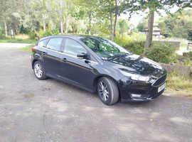 Ford Focus, 2015 (15) Black Hatchback, Automatic Petrol, 35,000 miles