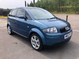 2002 Audi A2 1.6 Petrol FSI Sport, 5 door in blue