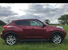 Nissan Juke, 2011 (11) Red Hatchback, Manual Petrol, 80,000 miles