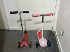 Small child scooters girls and boys
