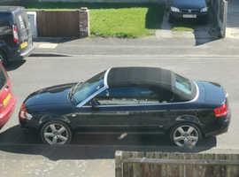 Audi A4, 2006 (06) Black Convertible, Cvt Petrol, 90,000 miles