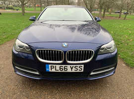 BMW 5 Series, 2016 (66) Blue Saloon, Automatic Diesel, 93,000 miles