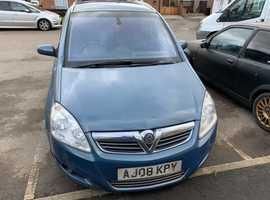 Vauxhall Zafira, 2008 (08), Manual Diesel, 134,729 miles